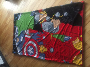 Super hero fleece throw blanket