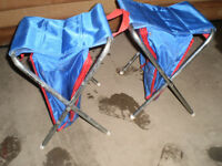 Two small folding stools