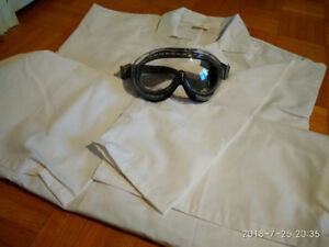 Lab coat and goggles