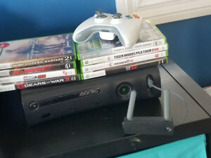 Xbox 360, controller, and games for Sale