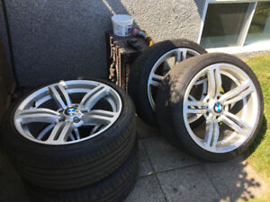 Mags BMW (staggered), 4x avec Pneus neuf