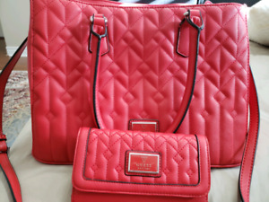 Guess red purse with wallet