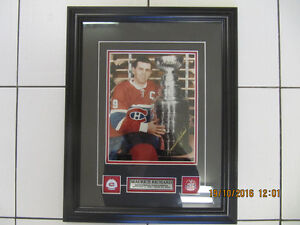 MauriceRichardMontreal Canadiens Autographed Framed 8x10 picture