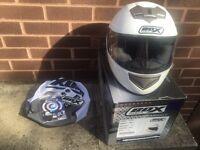 White box helmet (hardly used)