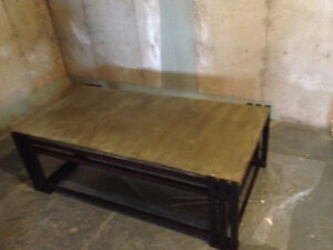 **SOLD PPU** Brand New Hand-crafted wood & concrete coffee table