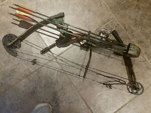 Compound bow with hard case and arrows Kawartha Lakes Peterborough Area image 1