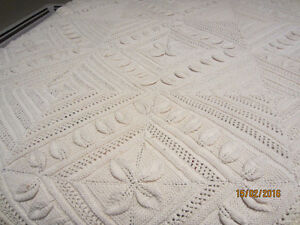 BEDSPREAD - ALL HAND KNIT