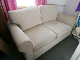 Two seater beige SCS sofa