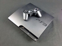 ps3 slim 320gb console with 3 controlers
