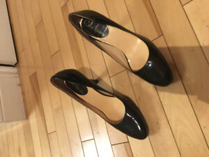 Cole Haan Black Patent Rounded Toe 3inch heels in size 8B