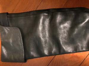 Calvin Klein - over the knee leather boots ( size 7-71/2).