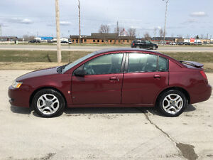 2003 Saturn ion sedan only 115000 km for $2850 obo new safetied