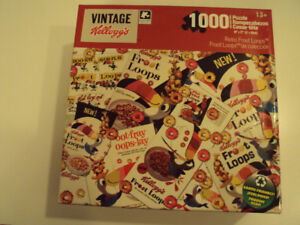 Kellogg's 1000 Piece Jigsaw Puzzle – Retro Froot Loops