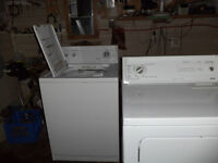 kenmore suoer capacity washer and dryer matching pair
