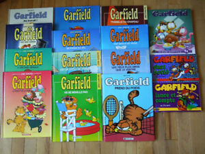 15 albums bd GARFIELD en excellente condition par Jim Davis