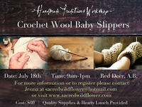 Crochet Wool Baby Slippers- Handmade Traditions Workshop