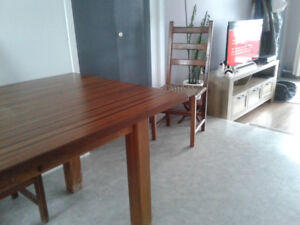 Table réfectoire