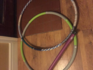 Exercise equipment hula hoop body bar