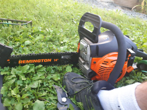 New chainsaw $140, tamper $30, hitch ball $45