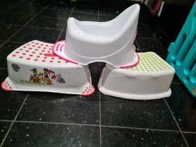 Toilet steps and potty FREE