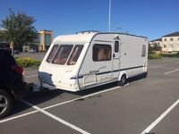 2004 sterling Europa fixed end bed 4/5 berth with awning good condition