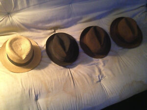 Collection of vintage men's hats in the fedora/trilby fashion