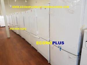 ECONOPLUS LIQUIDATION LE PLUS GRAND CHOIX DE REFRIGERATEUR CONGELATEUR   AU BAS BLANC A PARTIR DE 449.99$ TAXES INCLUSES