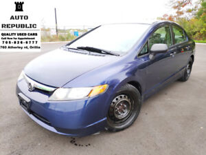 2007 Honda Civic, Certified, Snow Tires, Clean Carproof