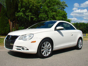 2009 Volkswagen Eos 2.0T Convertible, White on Tan, 6 Speed!!!