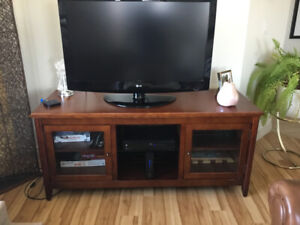 Beautiful New TV and Entertainment Stand