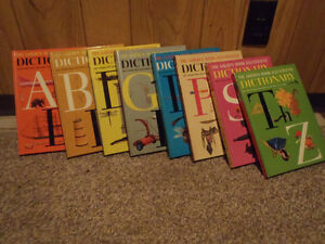 1951 Golden Book Dictionary 8 Volumes