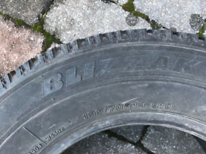 2-Bridgestone Blizzak Winter tires 195/70 R14