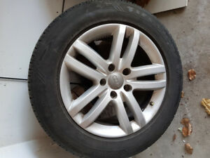 Audi 17 inch rims along with tires for sale