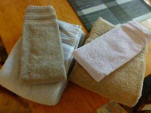 ensemble serviettes draps de bain et tapis