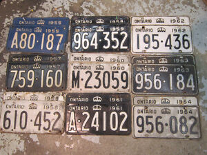 Classic Car License Plates, Vintage plate Pairs for $45.