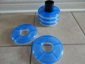 Set of 5 stackable storage containers for beads, charms, etc London Ontario image 4