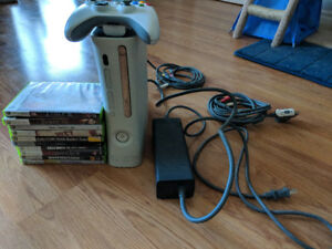 Xbox 360 with 1 controller & 10 games
