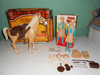 Vintage Marx Best Of The West Action Figures With Box's