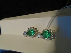 Sterling Silver Green Earrings