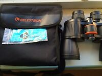 Black Celestron Binoculars and Case