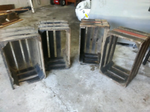 4 old crates