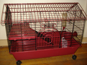 Small Pet Animal Cage With Rollers