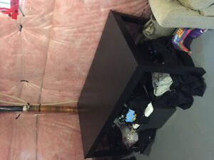 Black Dining Room Table with Leaf - reduced to $50.00