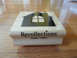 STAMPIN UP RECOLLECTIONS RUBBER STAMP HUT HOUSE HEART NEW London Ontario image 2