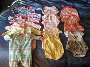 Lightly used size 3 month lot