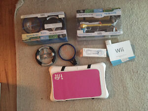 Wii console, controllers, and other stuff