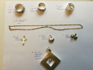 Men's and women's Sterling silver jewellery