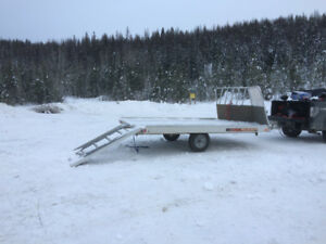 2012 Aluma 12ft Snowmobile/ Quad Trailer