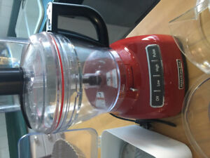 Kitchenaid 13 cup Empire Red Food Processor —- used once