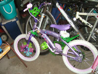 """new condition 16"""" girl bike with brake"""